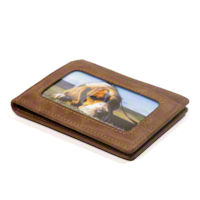 Natural Brown RFID Western Front Pocket Wallet