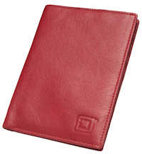 Red Blocking Passport Wallet